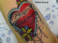 Татуировка сердце с именем