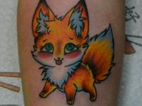 Татуировка лисичка