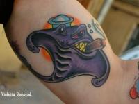Татуировка скат с сигарой