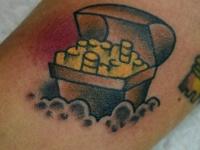 Татуировка сундук золота