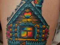 Татуировка дом