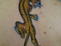 Татуировка ягуар на спине