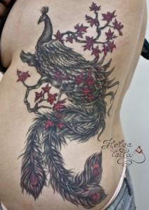 татуировка птица жар-птица тату
