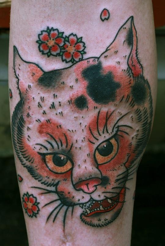 Татуировка выполнена мастером Иваном Ефименко. Фрагмент японской гравюры.