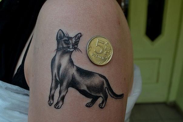 Татуировка с кошкой или котом - какие значения есть у наколки кошка?