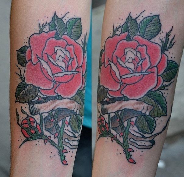 Татуировка Роза. Мастер Виолетта Доморад