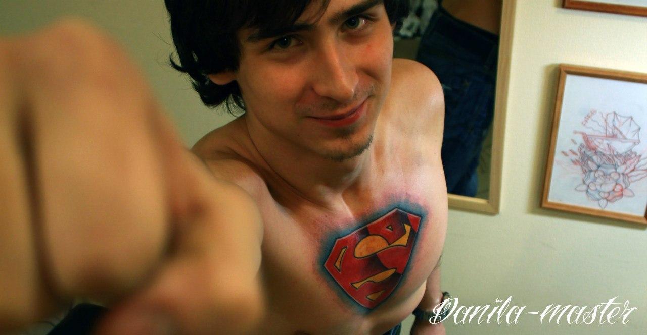 Татуировка Логотип Супермена. Данила - Мастер.