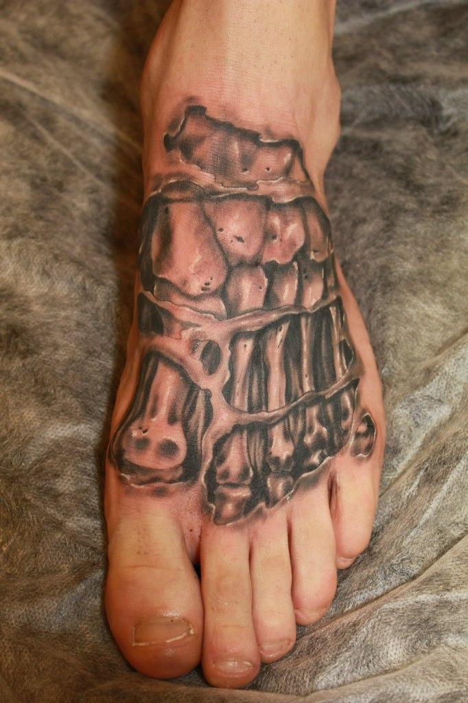 Художественная тату. тату стопы, тату скелет, тату реализм, artist tattoo, tattoo foot, tattoo skeleton, tattoo realism