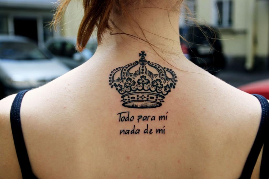 """Художественная татутировка """"Корона"""" + надпись. Мастер Павел Заволока."""