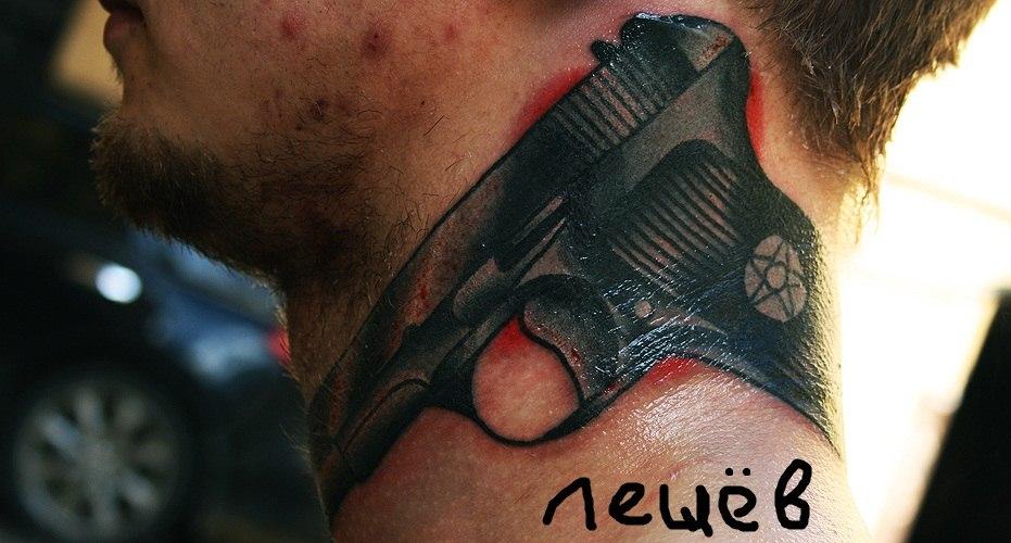 татуировка пистолет ТТ