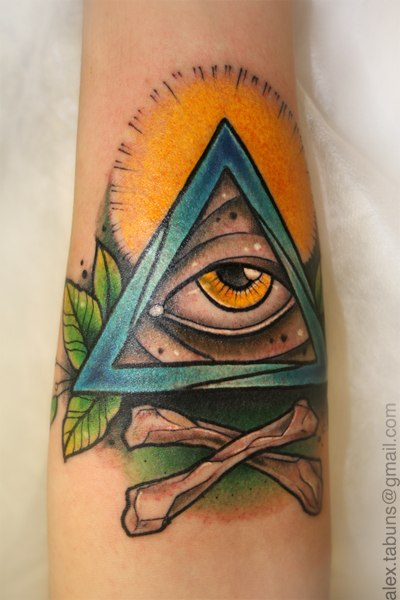 Татуировка Глаз. Мастер Александра Табунс