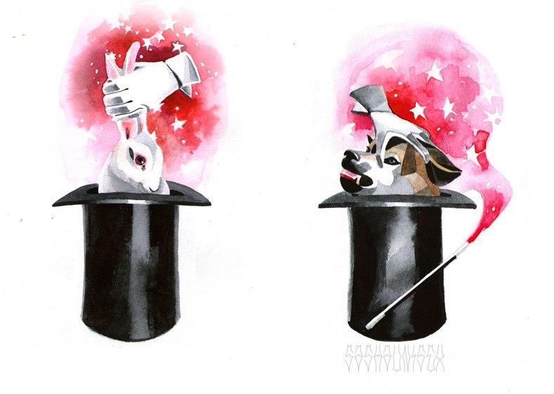 """Эскизы """"Фокус"""" от мастера Саши Unisex."""