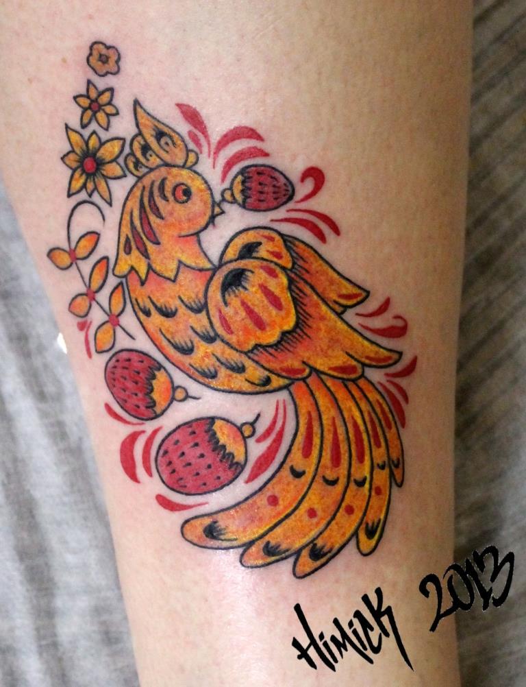"""Художественная татуировка """"Птица"""". Мастер Евгений Химик."""