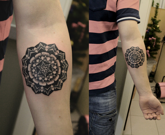 """Художественная татуировка """"Орнаментал"""". Мастер Валера Моргунов."""