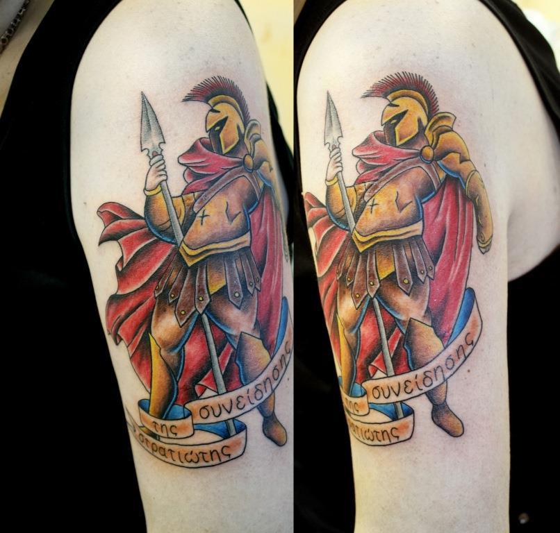 """Художественная татуировка """"Гладиатор"""". Мастер Евгений Химик."""