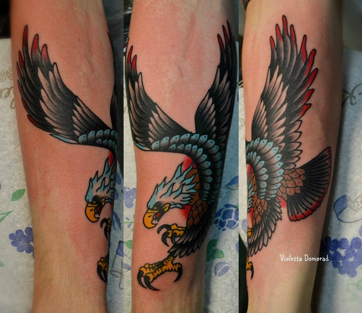 Татуировка Орел. Мастер Виолетта Доморад