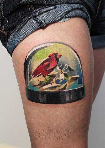 """Художественная татуировка """"птичка"""". Мастер Саша Unisex."""