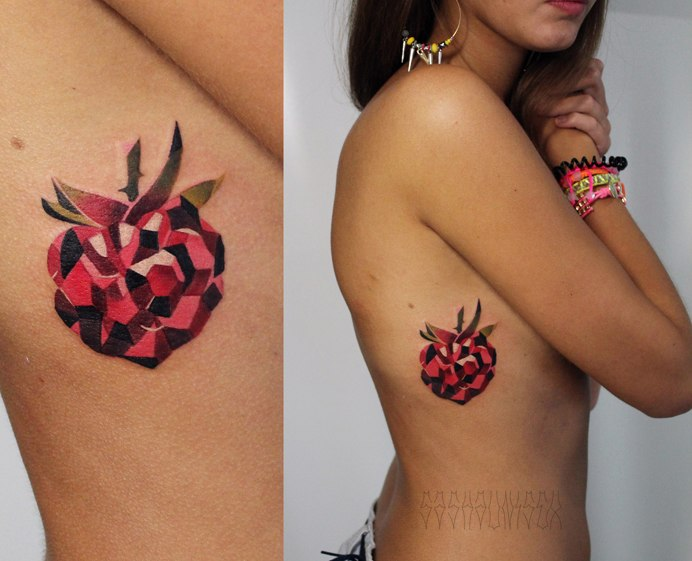 Художественная татуировка «Малинка». Мастер Саша Unisex.