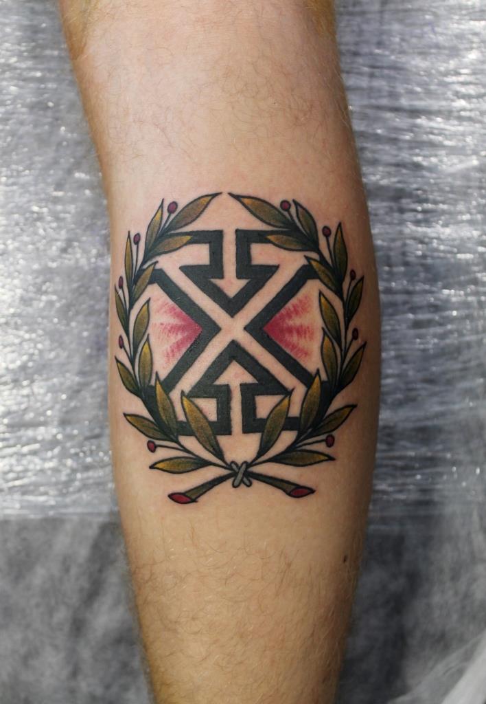 """Художественная татуировка """"Х"""". Мастер Саша Новик."""