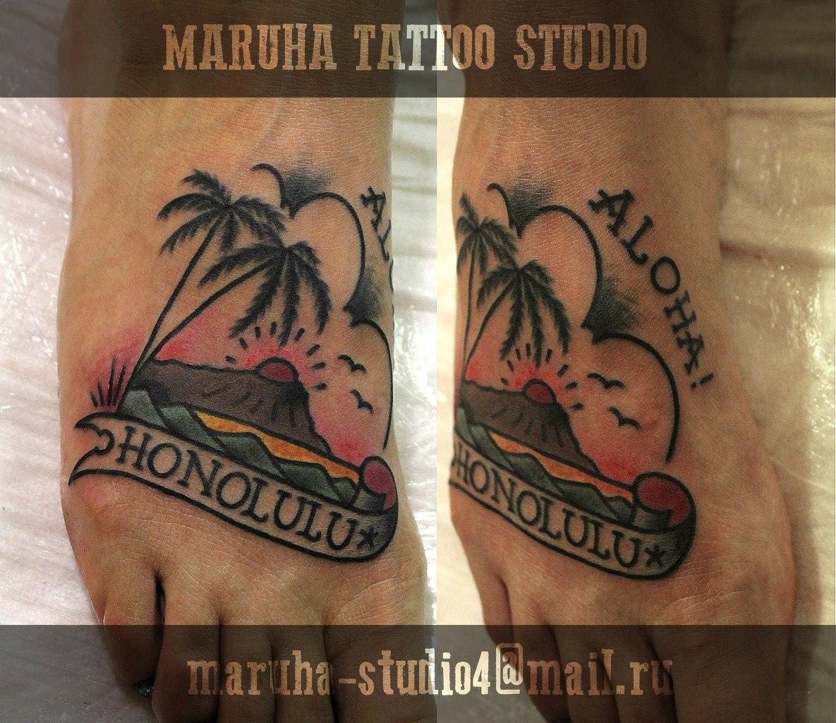 Татуировка по акции от мастера Валерия Моргунова