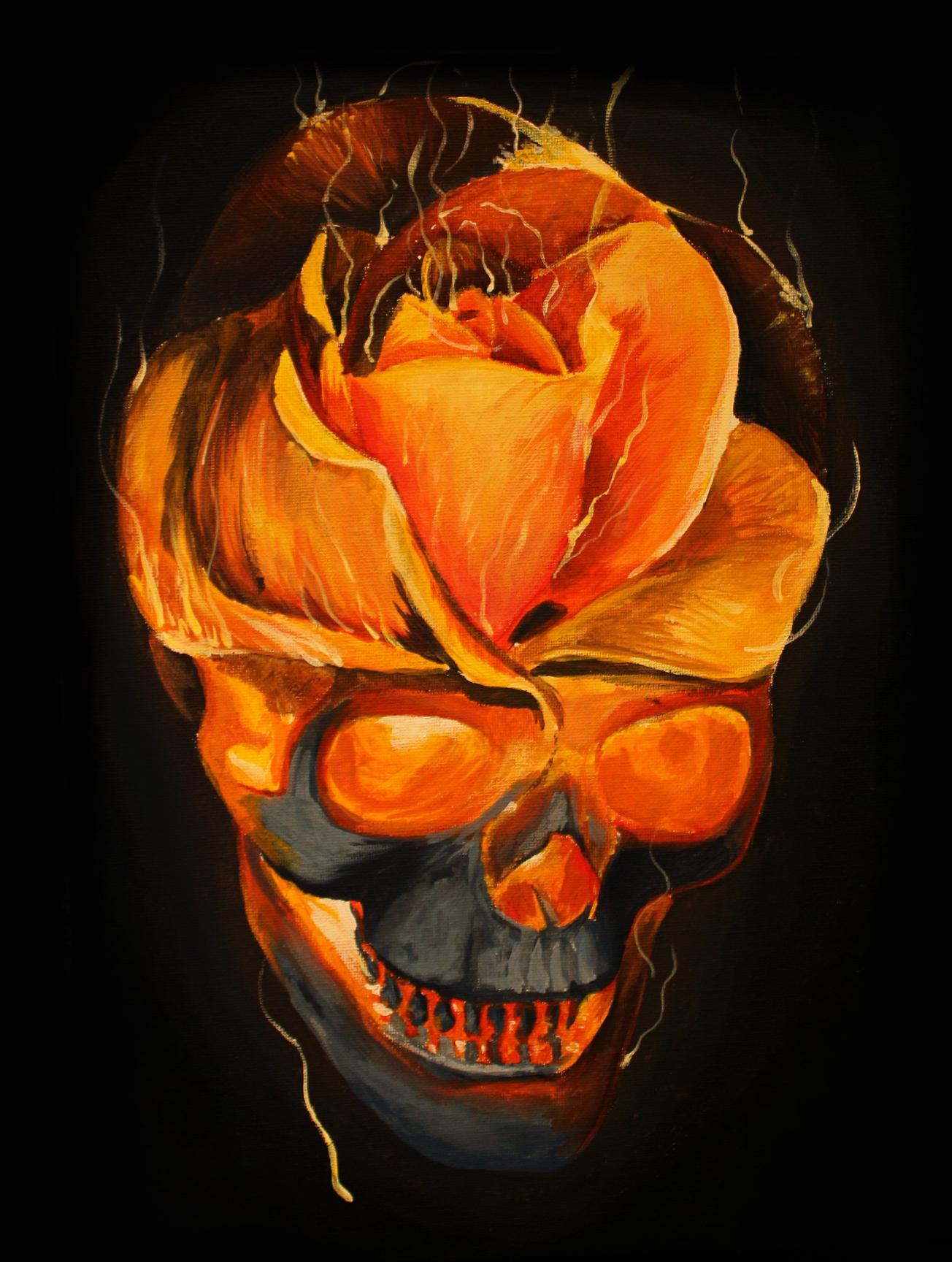 Картина акрилом от мастера Сергея Horror Степанова.