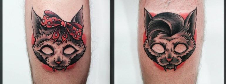 Художественная татуировка «Кот». Мастер Денис Марахин.