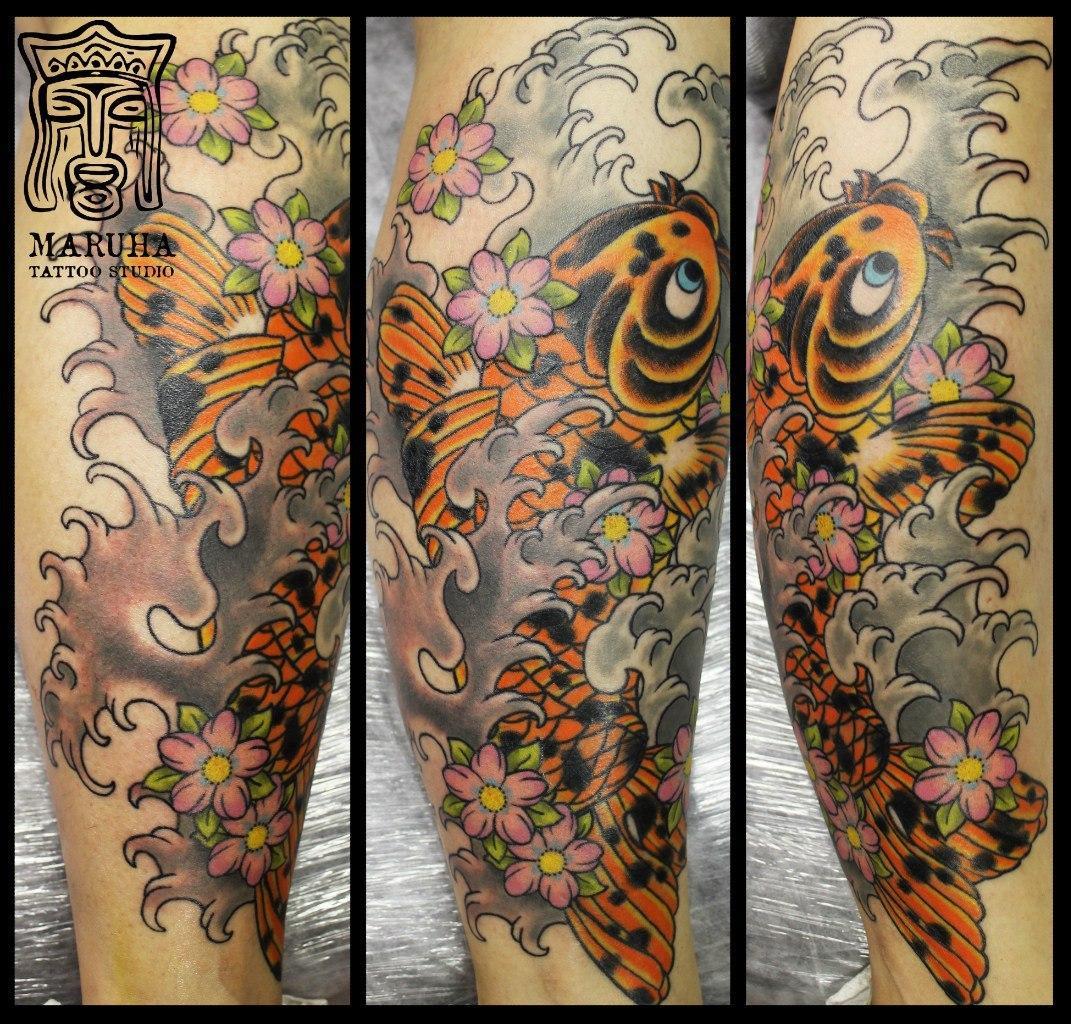 Художественная татуировка Карп от Андрея Бойцева