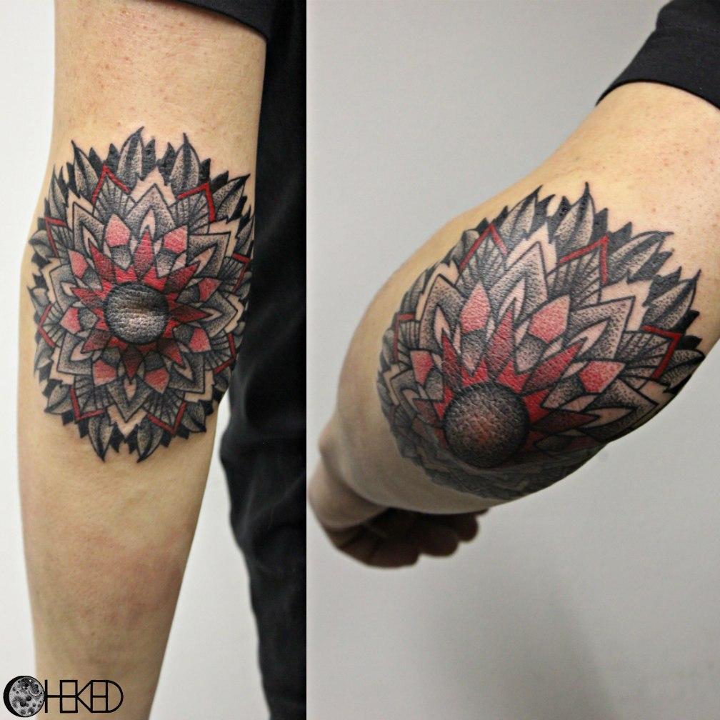 "Художественная татуировка ""Мандала"". Мастер Алиса Чекед."