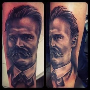 Портрет Фридриха Ницше.