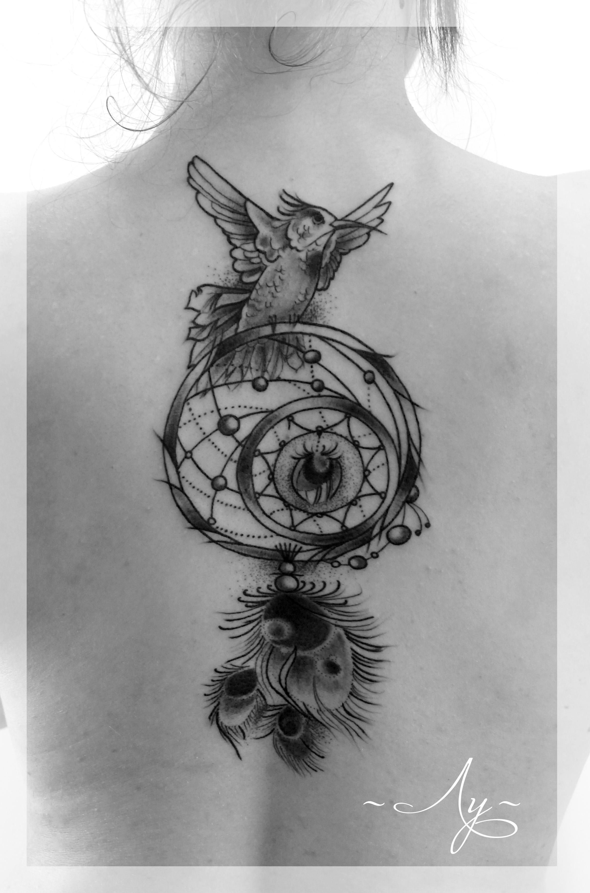 """Художественная татуировка """"Ловец Снов"""". Мастер Катя Луч."""