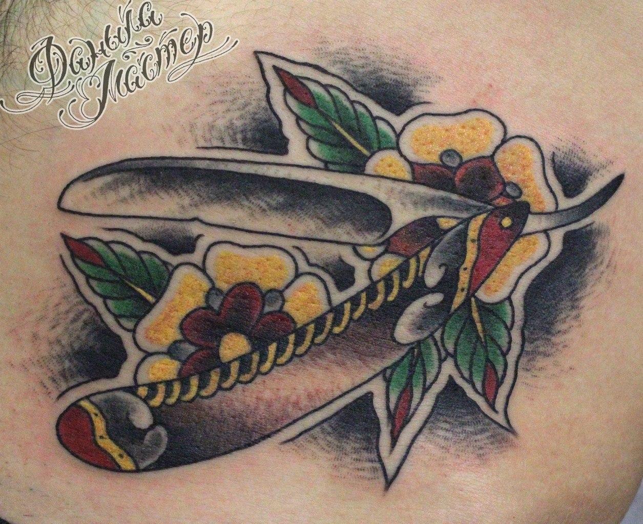 """Художественная татуировка """"Опаска"""" от Данилы-мастера."""