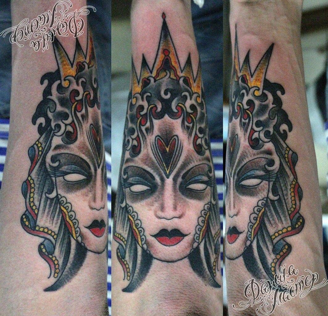 """Художественная татуировка """"Перевертыш"""" от Данилы-Мастера."""