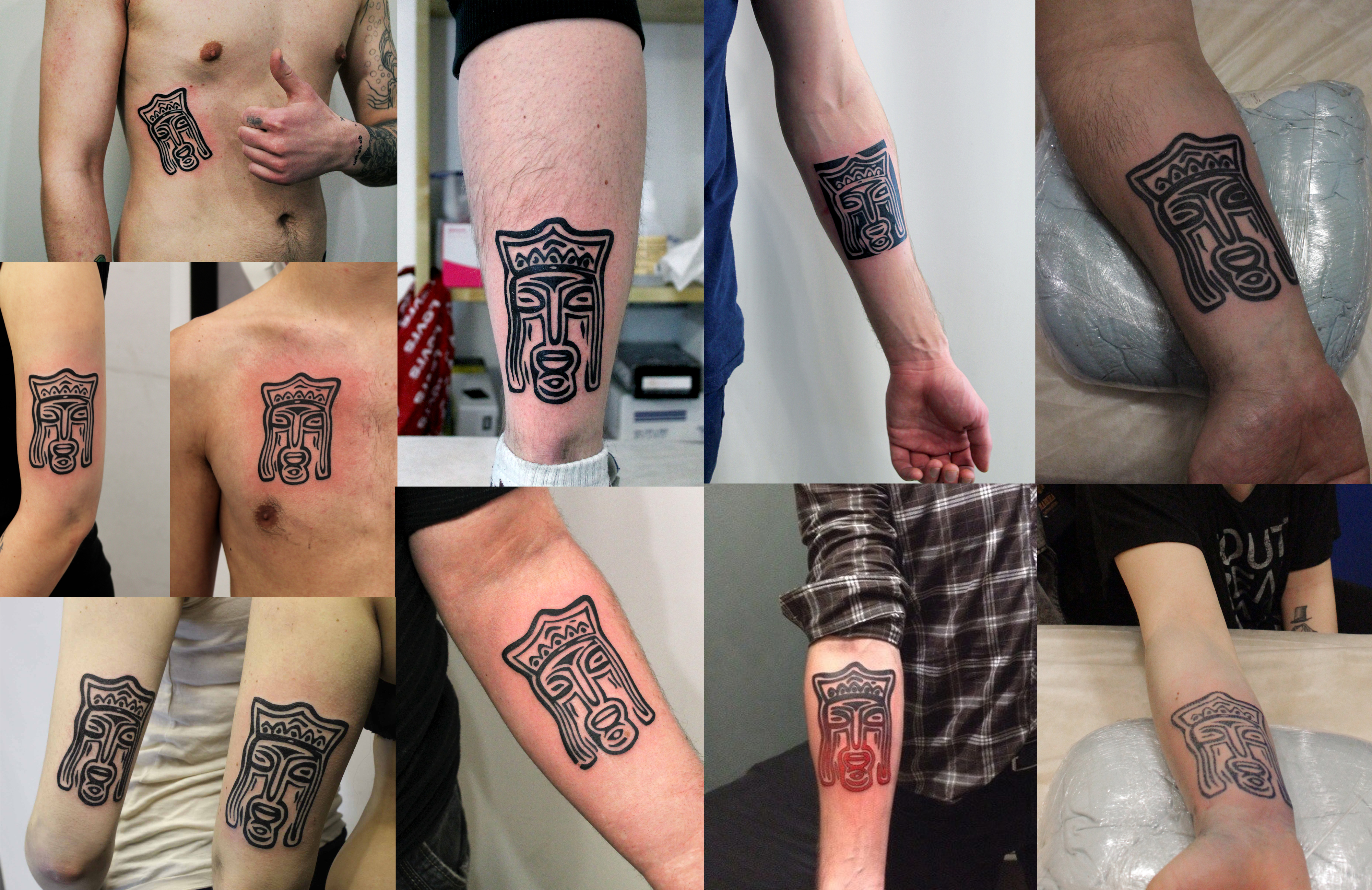 """Не так давно в сети наших студий """"Maruha"""" прошла акция: бесплатная татуировка с изображением лого """"Maruha"""". Предоставляем Вашему вниманию отчетное фото. Желающих оказалось много. Спасибо, что Вы с нами! Мы Вас любим!"""