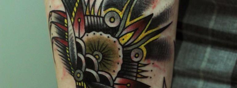 Художественная татуировка «Краб» в исполнении Вовы Snoopa.