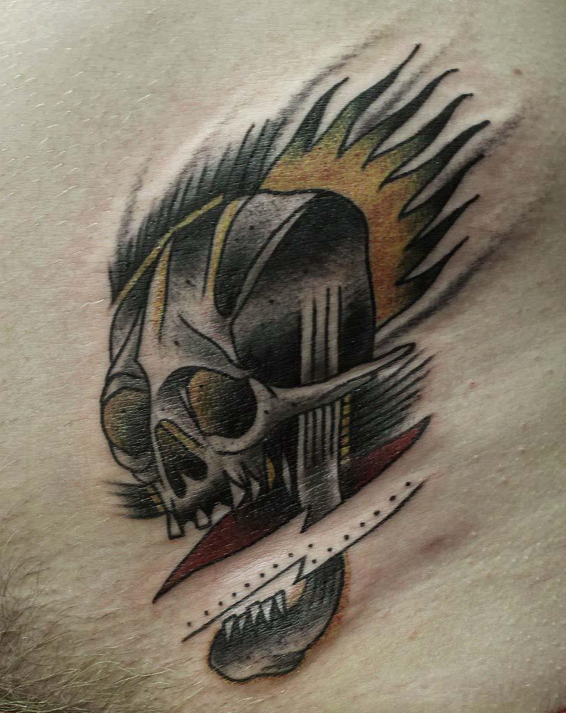 """Художественная татуировка """"Череп"""" от Вовы Snoop'a"""
