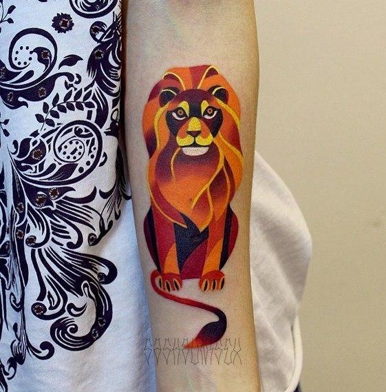 """Художественная татуировка """"Лев"""". Мастер Саша Unisex."""