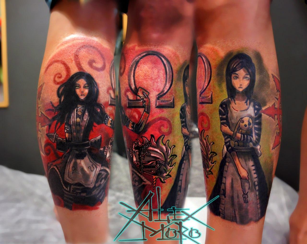 "Художественная татуировка ""Алиса"" от Александра Морозова"