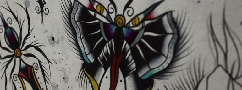 Свободный эскиз «Бабочка» от мастера художественной татуировки Вовы Snoop'a.