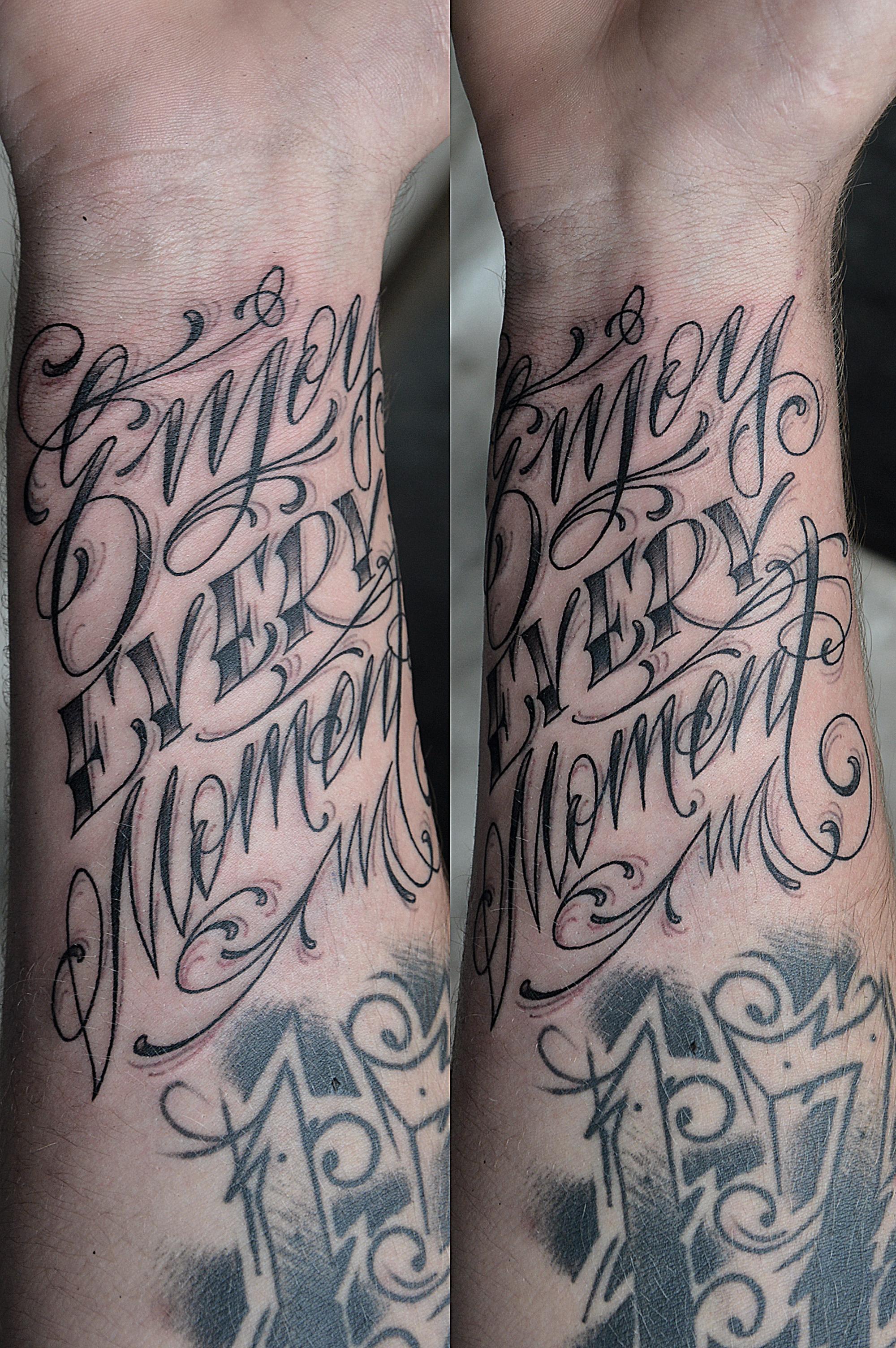 """Художественная татуировка """"Enjoy every moment"""" от Валеры"""