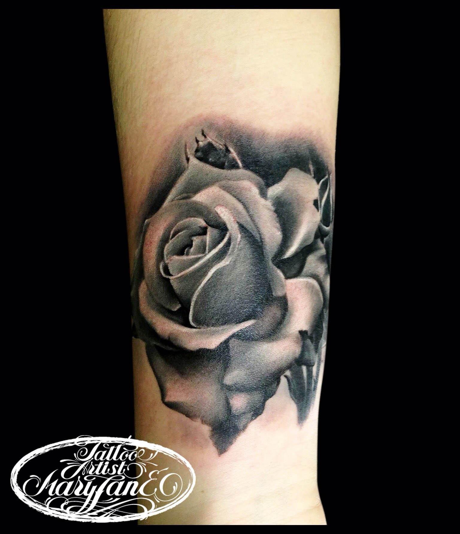 """Художественная татуировка """" Роза"""". Мастер Мадина Mary Jane."""
