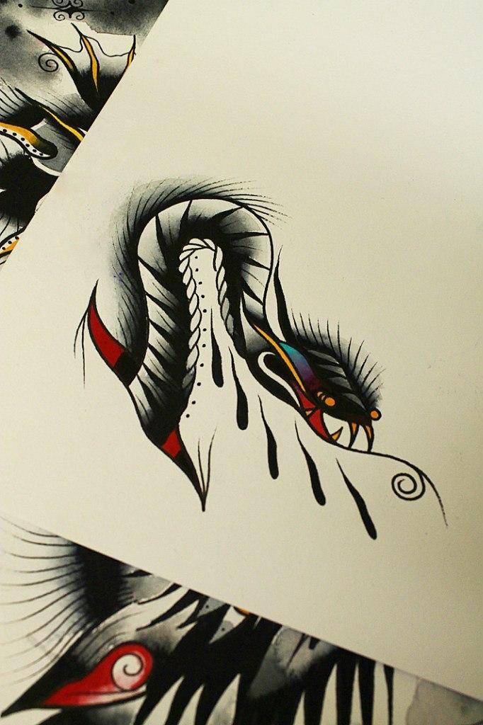 Свободный эскиз «Змея» от Вовы Snoop'a.