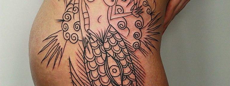 «Русалка» в процессе от мастера художественной татуировки Вовы Snoop'a.
