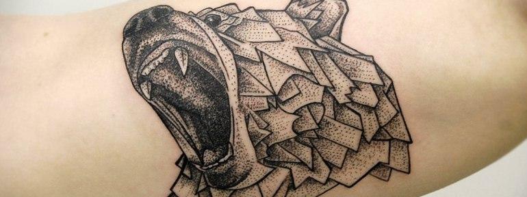 Художественная татуировка «Медведь». Мастер Инесса Кефир.
