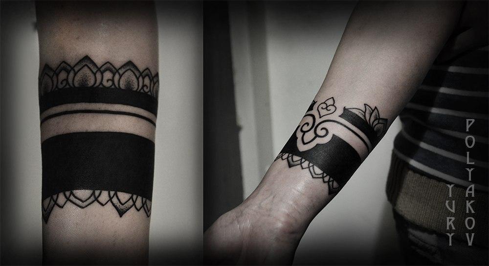 """Художественная татуировка """"Браслет"""" от Юрия Полякова"""