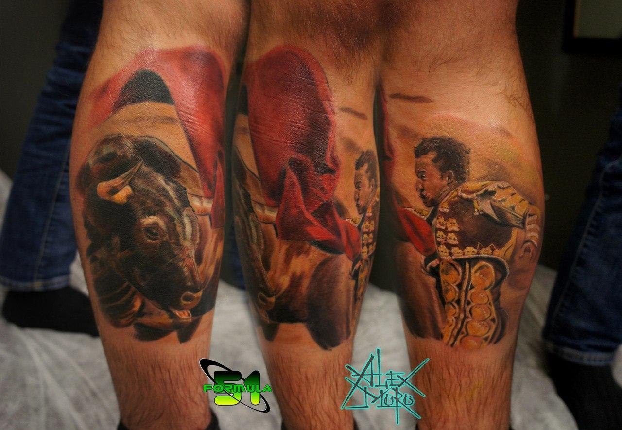 """Художественная татуировка """"Тореадор"""" от Александра Морозова"""