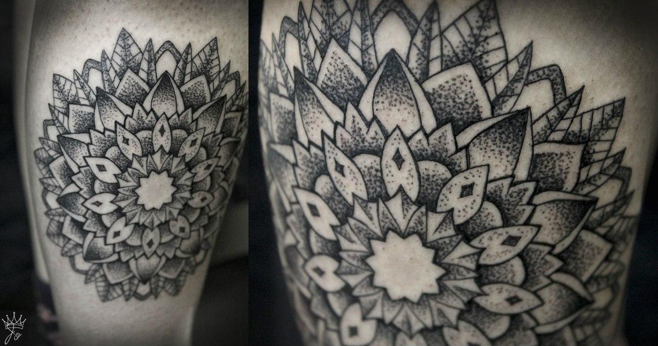 """Художественная татуировка """"Мандала"""". Мастер Ксения Jokris Соколова."""