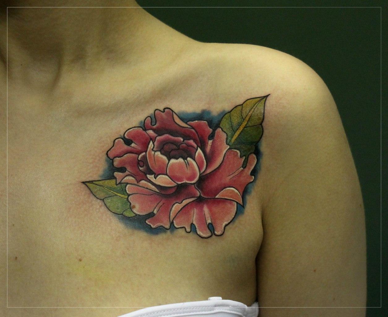 """Художественные татуировки """"Цветы"""". Мастер Мария Скляр."""