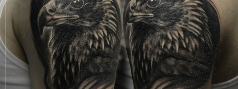 Художественная татуировка «Орел». Мастер Мария Скляр.