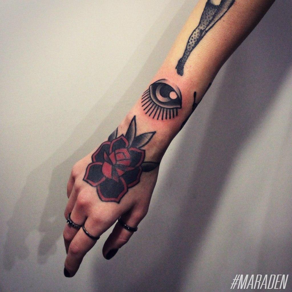 Художественная татуировка «Глаз». Мастер — Денис Марахин.