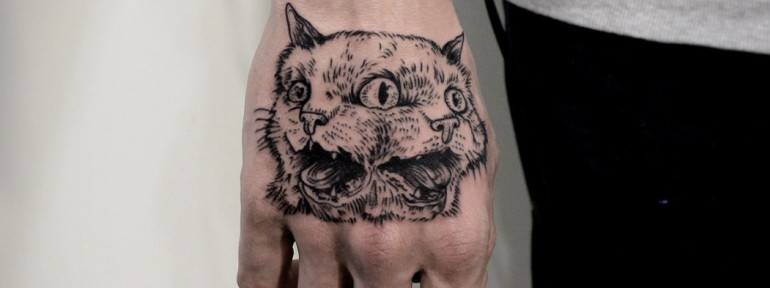 Художественная татуировка «Кот. Мастер — Инесса Кефир.
